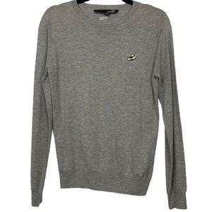 Love Moschino Silver Heart Pendant Sweater in Grey
